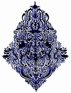 BIG BLUE PATTERN by Nick White