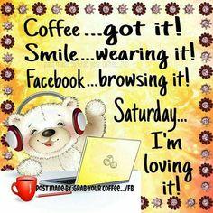 Good morning:) happy Saturday to you😊☕ Saturday Morning Quotes, Saturday Coffee, Saturday Images, Saturday Humor, Good Saturday, Good Morning Funny, Good Morning Friends, Good Morning Good Night, Morning Humor