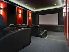 Media room   Sala de cine en casa