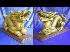 Dragão Chinês Artista Hugo Krüger Escultura em Concreto Celular