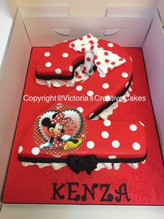 Super cute Minnie Mouse number 2 birthday cake