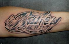Tatoo Brazo Hombre Nombres tatuajes para hombres en el brazo nombres diseño | tatuu | pinterest