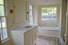 Wood Floor Bathroom, Beach House Bathroom, White Bathroom, Master Bathroom, Floor Colors, House Colors, Bathroom Pictures, Bathroom Ideas, Indoor Paint