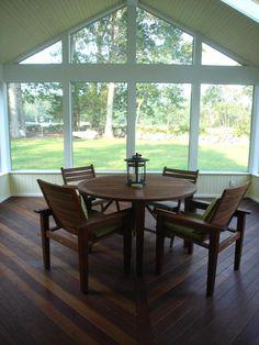Screen porch interior