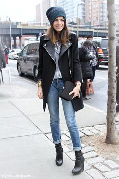 turns out the man repeller and i share the same sandro coat (and affinity for beanies)