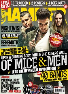 MHR268 Of Mice & Men, Upon A Burning Body and While She Sleep wallet from 2015 for Metal Hammer Magazine in the UK. With photographer Travis Shinn and John McMurtrie.