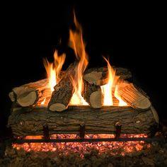 Country Split Vented Ceramic Gas Log Set