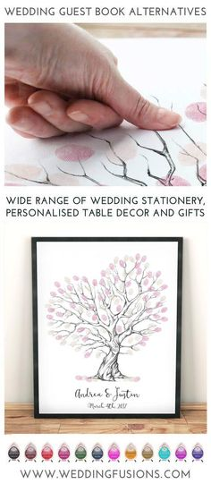 A fingerprint wedding guestbook makes the perfect wedding keepsake, a unique memento to cherish forever and a beautiful piece of art for your home!