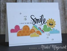 "Simon Says Stamp June 2015 Card Kit | ""I Love To See You Smile"" Card (video)"