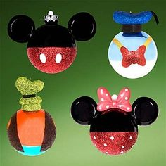 Disney Parks Mickey Mouse, Donald Duck, Goofy, and Minnie Mouse 4 Piece Glass Ornament Set Disney Christmas Decorations, Mickey Christmas, Christmas Ornament Sets, Holiday Ornaments, Christmas Themes, Christmas Crafts, Disney Holidays, Mickey Mouse Ornaments, Disney Ornaments