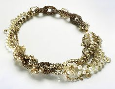 "beaded jewelry | Crystal bead jewelry by Scarlett Lanson. Necklace ""Brilliance is Born"""