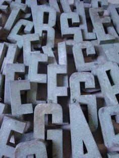 Zinc Letters