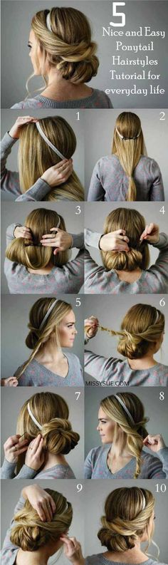 Looking for some nice and easy ponytail hairstyles idea? We are here with five nice and easy ponytail hairstyles. Ponytails are casual but if designed properly, it can be trendy as other fancy hairstyles. Though in this article dedicated to nice and easy ponytail hairstyles for everyday life. If you are interested in the ponytail, #hairstraightenerbeauty #PonytailHairstylesTutorial #PonytailHairstylesTutorialhigh #PonytailHairstylesTutorialeasy #PonytailHairstylesTutorialside