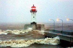 The witch of November.  Duluth North Pierhead Light