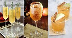 Enkla, goda och bubbliga drinkar gjorda på mousserande vin med höstens alla smaker.