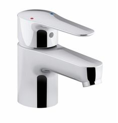 Deliver a stupefying appearance to your bathrooms when using this KOHLER July Single Hole Single Handle Low Arc Bathroom Faucet in Polished Chrome.