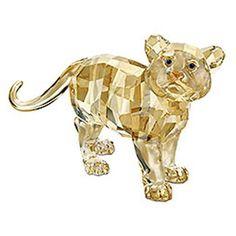 Swarovski Crystal Figurines | Swarovski Crystal Tiger Cub Standing Figurine Retired « WonderClub ...