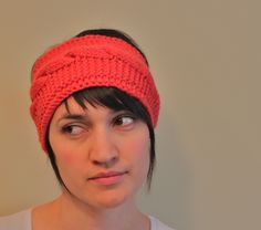 Pick n' Knit Patterns: Adjustable Cabled Headband - Free Knit Pattern