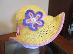 crochet beach hats for ladies on etsy - Google Search