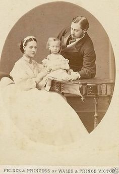 1860s the Prince and Princess of Wales with their son Albert Victor