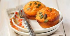 Recette de Muffins au potiron, noisettes et fromage de chèvre. Facile et rapide à réaliser, goûteuse et diététique.