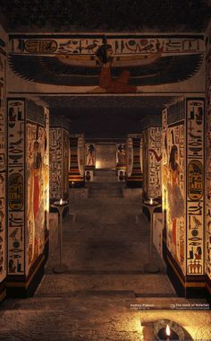 """Nefertari's tomb, discovered in 1904 Valley of the Queens Luxor"" Egyptian Temple, Ancient Egyptian Art, Egyptian Mythology, Egyptian Goddess, Old Egypt, Egypt Art, Ancient Egyptian Architecture, Ancient Egypt History, Ancient Aliens"