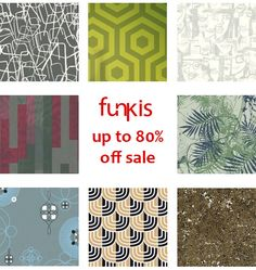 Funkis - Contemporary Australian, Swedish & Scandinavian Designed Homewares & Fashion: Up To 80% Off Sale, Including Over 70 Wallpaper Designs To Choose From