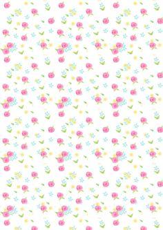 FREE printable rose pattern paper | #rosepattern #pastel