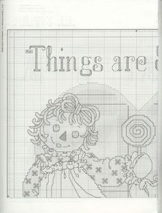 Schematic cross stitch Things Are Sweeter 01 Cross Stitch Angels, Cross Stitch For Kids, Just Cross Stitch, Cross Stitch Needles, Cross Stitch Baby, Cross Stitch Charts, Cross Stitch Patterns, Cross Stitching, Cross Stitch Embroidery