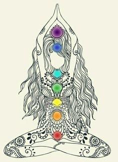 색으로 방향감 선으로 구체묘사 Tenemos 7 chakras principales, los cuales no son perceptibles físicamente ni los podemos ver, sólo SENTIR. 7 Chakras, Chakra Meditation, Chakra Healing, Chakra Art, Mindfulness Meditation, Meditation Symbols, Chakra Tattoo, Meditation Tattoo, Chakra Painting
