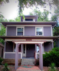 Lavender Foursquare House Grey Purple Paintbungalow Exteriorhouse