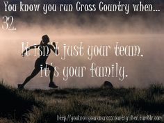 You Know You Run Cross Country When its your family! That is what our team is!