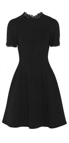 Armel lace-trimmed stretch-jersey crepe dress