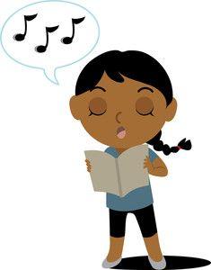 mixed family clip art cartoon vector illustration of a caucasian rh pinterest com singing clip art images signing clip art