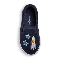 Your little guy's just about mastered walking. Next up? Taking on space! He'll be ready to explore the outer reaches of the galaxy with these awesome Nixon Slip-On Space Patch Sneakers from Cat & Jack™. These comfy sneakers are easy to pull on so he can top off his outfits all by himself, and the rubber soles will help keep him from slipping as he goes on his adventures. Whether he's playing astronaut or reading books about space with you, these shoes will be the perf...
