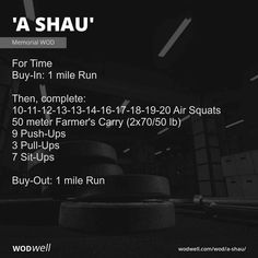Wod Workout, Training Workouts, Spartan Race Training, Strength Training, Battle Of Hamburger Hill, Military Terms, Air Squats, Barbell, Thing 1 Thing 2