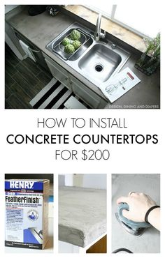 My Experience Installing Concrete Countertops for Only $200! | Hometalk