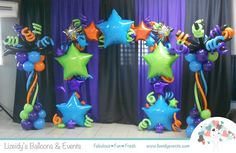 Stars Balloon Decor / Graduation Balloon Decor / Decoración en Globos graduación