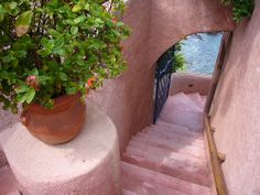 Stairs at La Casa Que Canta in Zihuatanejo, Guerrero, Mexico ~ by mickle229, via Flickr
