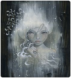 Audrey Kawasaki - she who dares. Both the title, the piece, and the artist are favourites of mine. Would live to be able to capture the grain work of the wood as well as the design in a tattoo but not sure how...
