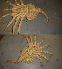 make an alien prop - I'd FREAK out if I saw this in someone's yard.  Scary Halloween prop.