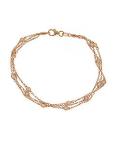 14k+Pink+Gold+By-The-Yard+Diamond+Bracelet+by+Neiman+Marcus+Diamonds+at+Neiman+Marcus+Last+Call.