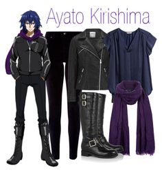 Ayato Kirishima - Tokyo Ghoul by alt-jay on Polyvore featuring polyvore, fashion, style, H&M, ONLY, Monsoon and Jimmy Choo