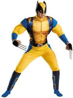 men's costume: wolverine origins classic muscle