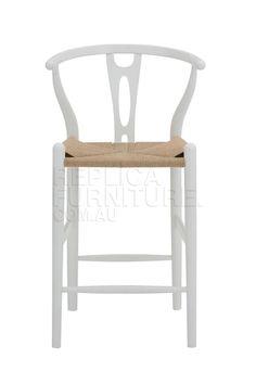 White Wishbone Counter Stool | Replica | Bar Chairs Australia