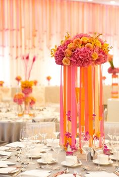 Pink and orange wedding ideas hot pink orange ribbons pink and orange wedding ideas hot pink orange ribbons south asian summer decor loverly wedding ideas 4 quelz pinterest hot pink junglespirit Gallery