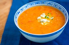 Roasted Tomato Soup with Lemon and Thyme