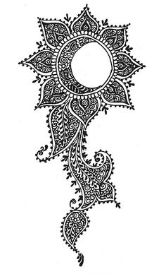 lotus sun moon henna tattoo also great inspiration for Zentangle Henna, Skin Art, Henna Designs, Henna Tattoo, Tattoos, Art Tattoo, Moon Sun Tattoo, Zentangle, Art