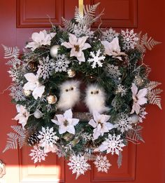 Winter Wonderland Owls Christmas Wreath by IrishGirlsWreaths, $125.00