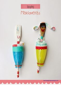 happyprojectsdesign: Juguetes Handmade (3): Marionetas